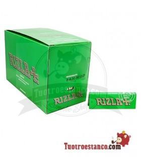 Papel Rizla + Verde de 70 mm - 100 libritos