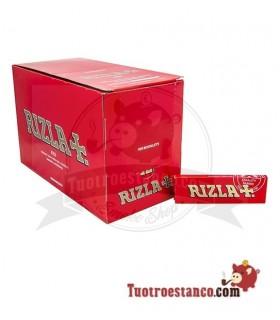 Papel Rizla + Rojo de 70 mm - 100 libritos