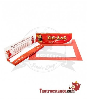 Papel Zig-Zag Rojo King Size de 110 mm