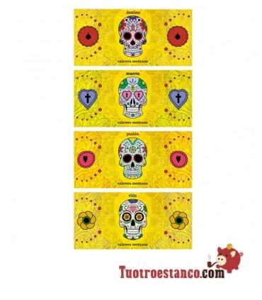 Papel de colección Calavera Mejicana Yellow KS + tips