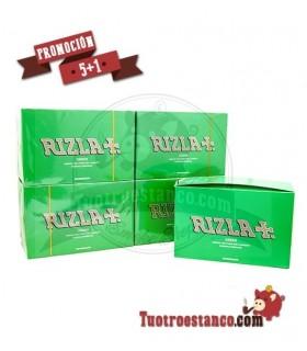 Papel Rizla Verde 5 Estuches + 1 Gratis - 600 libritos