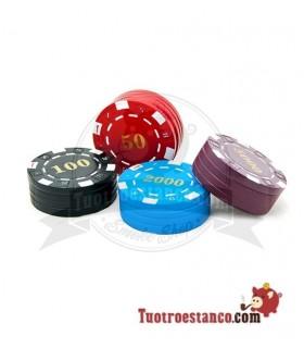 Envase Metálico Fichas de Poker