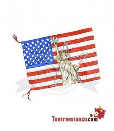 Bandera Americana Estatua de la Libertad