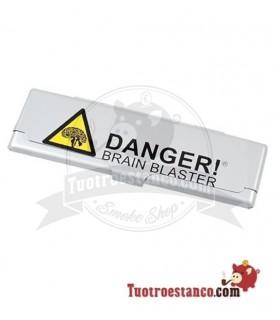 Estuche metálico papel de fumar KS Danger! Brain Blaster