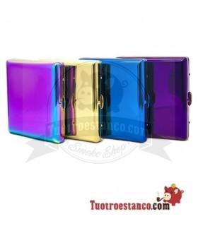 Pitillera metálica Colores Rainbow