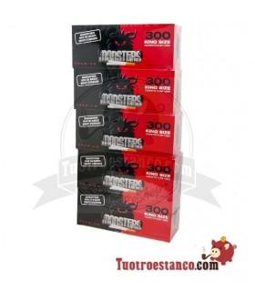 Tubos Monster King Size - 5 cajitas de 300 tubos