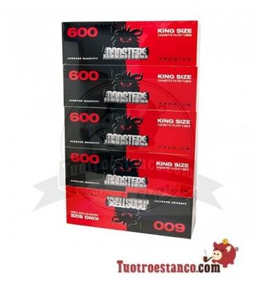 Tubos Monster King Size - 5 cajitas de 600 tubos