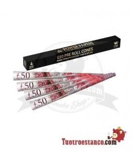 Conos Power Paper Libra Esterlina King Size 4 unidades