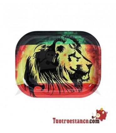 Bandeja Metal New Rasta Lion 18 x 14 cm