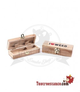 Caja de Madera I Love Weed Pequeña