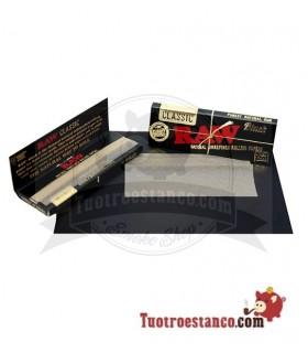Papel Raw Black Edition 1 1/4 78 mm (50 hojitas)