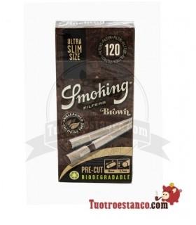 Filtros Smoking Brown Precortados de 5,7 mm 120 filtros