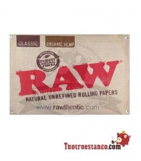 Cartel de tela cañamo Raw