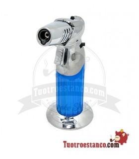 Encendedor Soplete Jobon Azul y Plata
