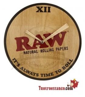 Reloj de madera Raw