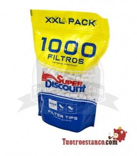 Filtros SuperDiscount Regular 8 mm Bolsa XXL 1000 filtros