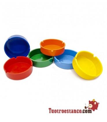 Cenicero plástico redondo