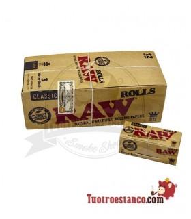 Papier à Rouler Raw King Size 3-m - 12 livrets