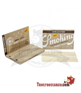Papel Smoking Thinnest Brown Ultra Fino Doble Ventana 70 mm