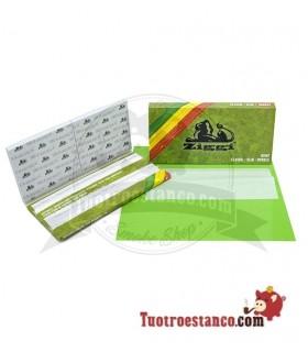Papel Ziggi Ultra Slim KS Pack Doble Ventana Green + Tips