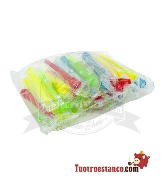 Boquillas Cachimba Plástico Largas 8 5cm Pack 40 Uds
