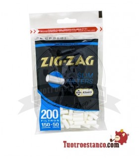 Filters, zig-Zag 6mm 1 bag of 200 filters