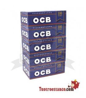 Tubos OCB Blue - 5 cajitas de 100 unidades