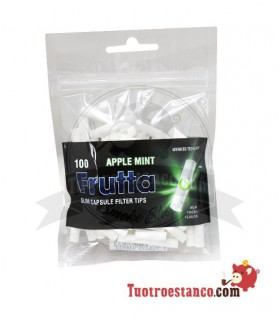 Filtros FRUTTA -Apple Mint- 6mm con capsula 100 unidades