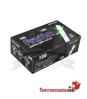 Tubos FRUTTA -LIMA- con capsula 1 cajita de 100 unidades