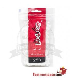 Filtros Locos Slim 6mm 250 filtros