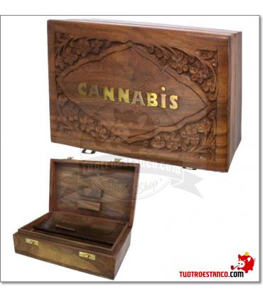 Caja de madera WD 94 Cannabis 20x13 cm