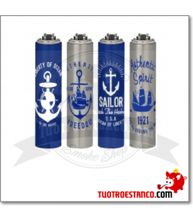 Encendedor Clipper + funda Sailors 4