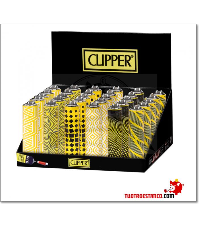 Clipper + funda metálica amarilla