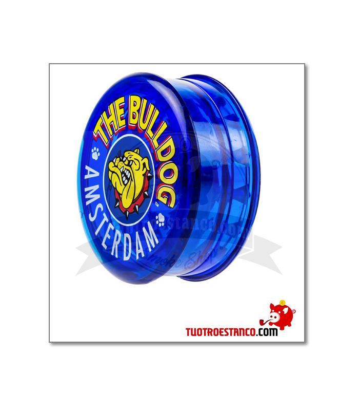 Grinder Bulldog plástico 3 piezas 60 mm azul