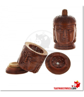 Grinder Budha madera 3 Piezas