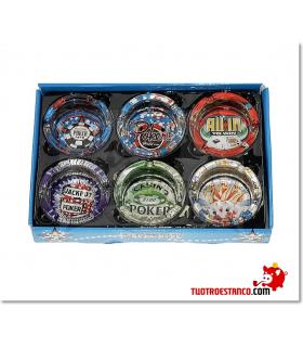Cenicero de Cristal Poker