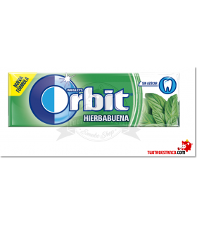 Chicles Orbit Hierbabuena gragea