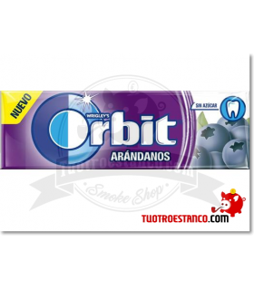Chicles Orbit Arándanos gragea