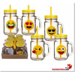 Vaso Emoji + Pajita 350 ml 13 cm