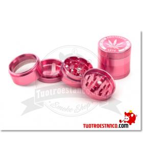Grinder Metal 40 mm 4 piezas Rosa Hoja