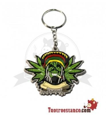 Llavero Skull leaf