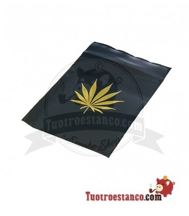 Bolsa Hermetica transparente Negro hoja 6x8cm 100 bolsitas