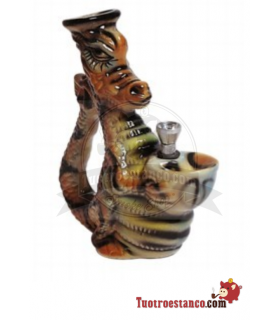 Bong de cerámica dragón 18 cm