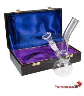 Bong de cristal 22cm + maletín