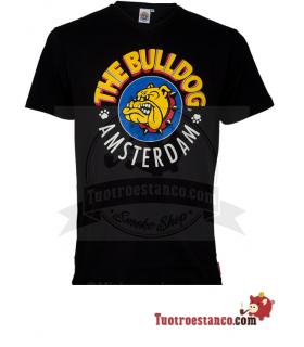 Camiseta negra Bulldog Amsterdam chico