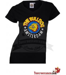 Camiseta negra Bulldog Amsterdam Chica