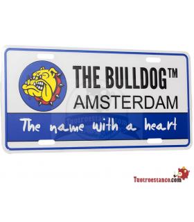 Placa Bulldog Amsterdam 30 x 15 cm