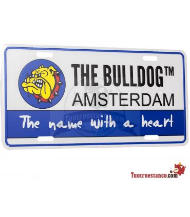 Placa Metal Bulldog Amsterdam 30 x 15 cm