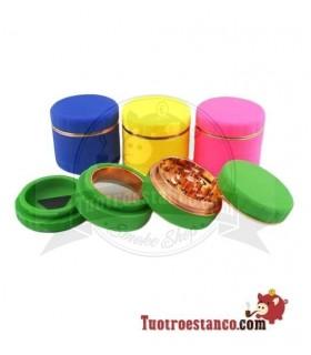 Grinder XL 63 mm 4 piezas Silicona colores
