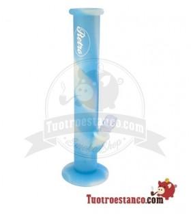 Bong Silicona retro Azul de 35 cm